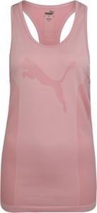 Różowy top Puma z dżerseju