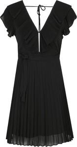 Sukienka Twinset mini z krótkim rękawem z dekoltem w kształcie litery v