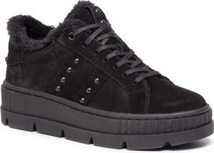 Czarne buty sportowe Gino Rossi sznurowane