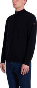 Niebieski sweter Paul & Shark z wełny