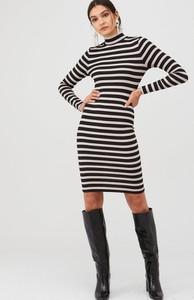 Sukienka V by Very mini z golfem z długim rękawem