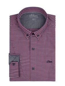 Fioletowa koszula S.Oliver Red Label z bawełny z długim rękawem