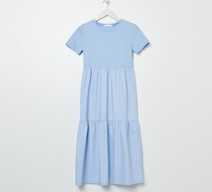 Niebieska sukienka Sinsay trapezowa