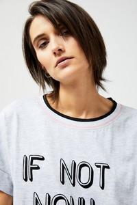T-shirt Moodo z krótkim rękawem z okrągłym dekoltem w stylu casual