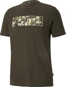 Zielony t-shirt Puma w sportowym stylu