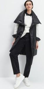 Czarna kamizelka Mohito w stylu casual długa