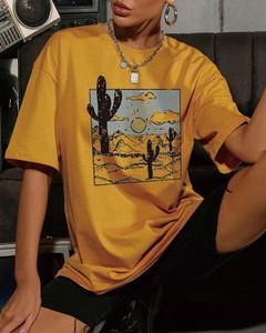 Żółty t-shirt Kendallme z krótkim rękawem z bawełny
