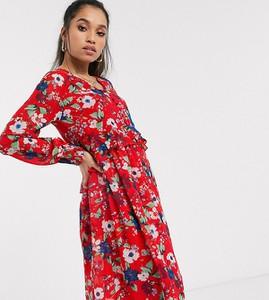 Sukienka Vero Moda z dekoltem w kształcie litery v z długim rękawem maxi
