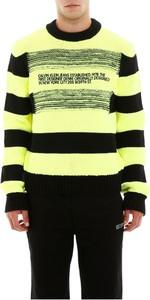 Żółty sweter Calvin Klein w młodzieżowym stylu z wełny