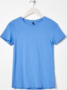 Niebieski t-shirt Sinsay w stylu casual