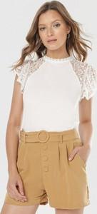 Bluzka born2be w stylu casual z krótkim rękawem z okrągłym dekoltem