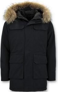 Czarna kurtka ENOS w stylu casual