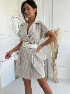 Sukienka Versada mini z bawełny z dekoltem w kształcie litery v