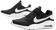 Czarne buty sportowe dziecięce Nike na rzepy
