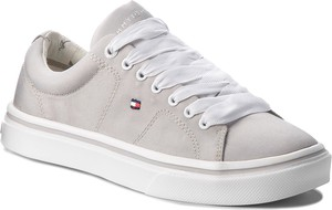 Sneakersy tommy hilfiger - metallic light weight lace up fw0fw03028 diamond grey 001