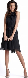 Czarna sukienka Ivon rozkloszowana