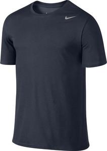 Granatowy t-shirt Nike z bawełny