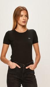 Czarna bluzka Lacoste w stylu casual