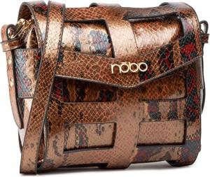 Brązowa torebka NOBO w młodzieżowym stylu średnia