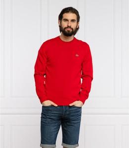 Sweter Lacoste z okrągłym dekoltem w stylu casual