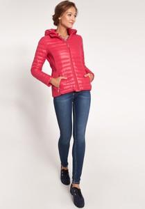 Różowa kurtka QUIOSQUE krótka w stylu casual