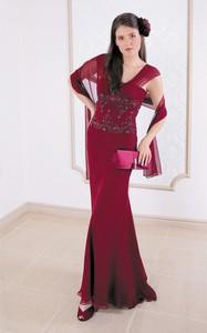 Czerwona sukienka Fokus maxi bez rękawów z dekoltem w kształcie litery v