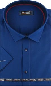 Niebieska koszula Massaro z tkaniny