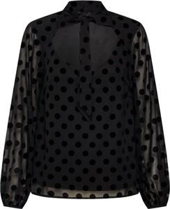 Czarna bluzka Fashion Union ze sznurowanym dekoltem