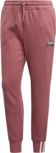 Różowe spodnie Adidas z tkaniny