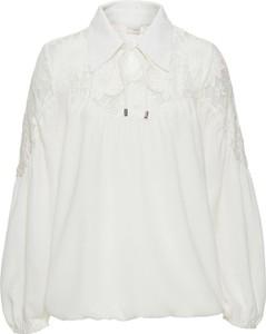 Biała bluzka bonprix bodyflirt boutique w koronkowe wzory