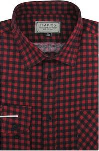 Koszula Pradizo z tkaniny z klasycznym kołnierzykiem
