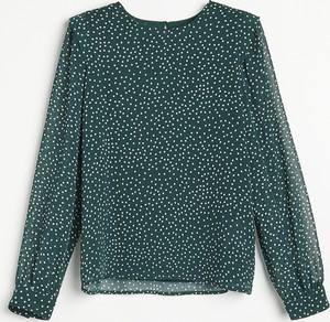 Zielona bluzka Reserved z długim rękawem w stylu casual