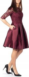 Sukienka Ted Baker z długim rękawem rozkloszowana z okrągłym dekoltem