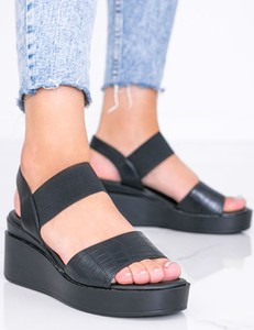 Czarne sandały Gemre.com.pl w stylu casual