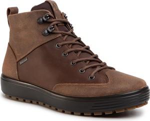 Buty zimowe Ecco z zamszu sznurowane