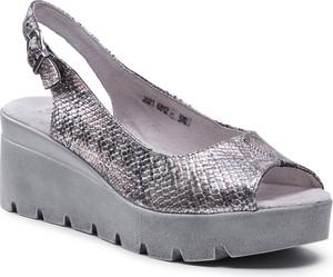Srebrne sandały SIMEN z klamrami