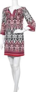 Sukienka Laundry By Design z długim rękawem z dekoltem w kształcie litery v