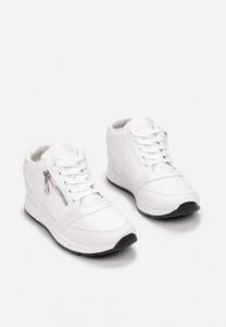 Buty sportowe Esclusivo.pl sznurowane ze skóry ekologicznej