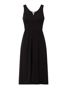 Czarna sukienka Object z bawełny midi z dekoltem w kształcie litery v
