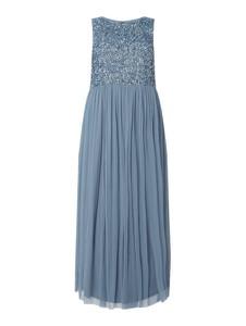 Sukienka Lace & Beads bez rękawów maxi rozkloszowana