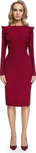 Czerwona sukienka Stylove midi