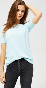 Niebieska bluzka Moodo z krótkim rękawem