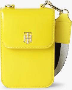 Żółta torebka Tommy Hilfiger na ramię matowa