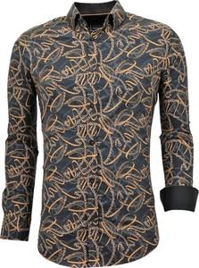 Brązowa koszula TONY BACKER z bawełny