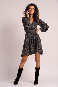 Czarna sukienka Angell z długim rękawem