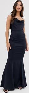 Granatowa sukienka Lipsy bez rękawów maxi