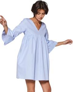 Sukienka Klaudyna Cerklewicz z długim rękawem z tkaniny mini
