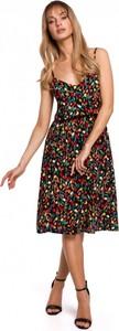 Sukienka MOE na ramiączkach z dekoltem w kształcie litery v midi