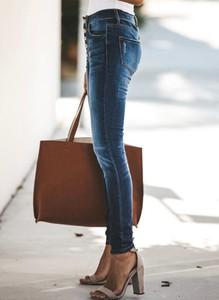 Niebieskie jeansy Cikelly w stylu casual