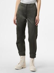 Zielone spodnie Cambio w sportowym stylu ze sztruksu